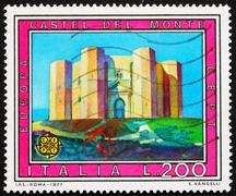 Postage stamp Italy 1977 shows Castel del Monte, Andria, Italy - stock photo