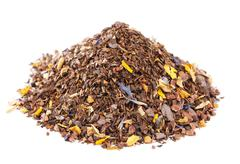 coffee-like, caffeine-infused mate and red rooibos blend, pile o - stock photo
