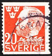 Postage stamp Sweden 1946 Alfred Nobel, Inventor and Philanthrop Stock Photos