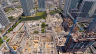 Stock Video Footage of Aerial Brickell Miami River