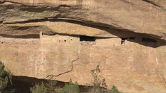 Mesa Verde Colorado ancient Indian cliff dwelling zoom HD 092 Stock Footage