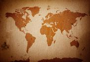 Stock Photo of Grunge world map