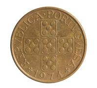 One escudo coin. Bank of Portuguese Republic - stock photo