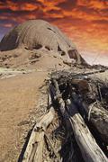 Mountains of the Australian Outback Stock Photos