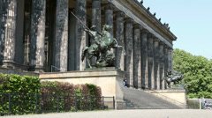 Old Museum  in  Berlin Stock Footage