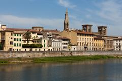 Florence - buildings along the arno river Stock Photos