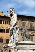 Fountain of neptune in the piazza della signoria, florence Stock Photos