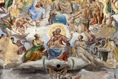 florence - duomo .the last judgement. - stock photo