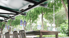 4k Ultra HD time lapse video on outdoor cafe at Orchard Road(TLORCHARD RDCAFE2) Stock Footage