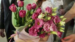 Bridal flowers Stock Footage
