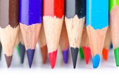 Stock Photo of Colour pencils in creativity concept