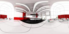 reception in hotel spherical panorama - stock illustration