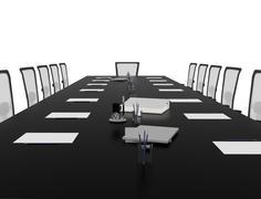Office table Stock Illustration