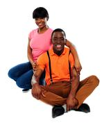 Happy african couple in love - stock photo