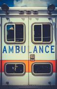 Vintage retro ambulance Stock Photos