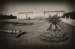 Gardens and Flowers inside Schonbrunn Castle Stock Photos