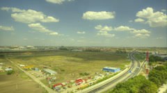 Timelapse road horizon with clouds Stock Footage