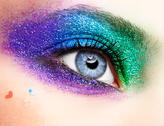 Stock Photo of holiday spangled eye makeup