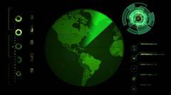Radar Screen Display Stock Footage