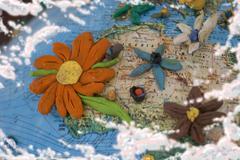 Flowered north africa Stock Illustration