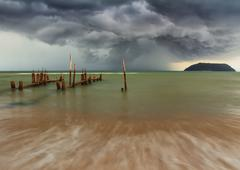 The storm pathway Stock Photos