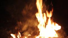 night fire - stock footage