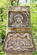 amazon rainforest sign - stock photo