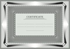 Frame for official document - stock illustration