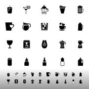 Variety drink icons on white background Stock Illustration