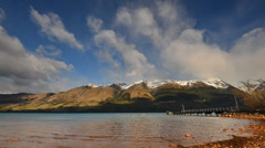 Morning at glenorchy, new zealand timelapse Stock Footage