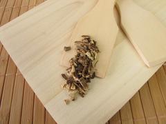 Garden Angelica root, Angelicae radix - stock photo
