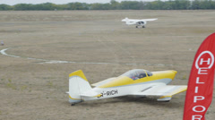 Van's Aircraft RV-7 goes to the runway Stock Footage
