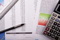 Financial and business concept - stock photo