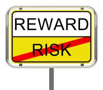 Risk and reward Stock Illustration