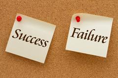 Success versus failure Stock Illustration