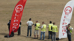 Spotters group at airshow - stock footage