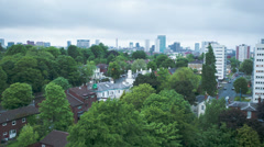 Birmingham, England city skyline timelapse. Stock Footage