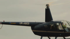Close-up of a helicopter Robinson R44 Raven II Stock Footage