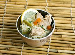 Chinese noodle with chicken Stock Photos