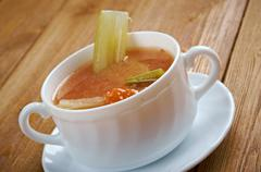 Chicken celery  with rice soup Stock Photos