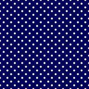 Navy Blue White Polka Dot Spot Pattern - stock illustration