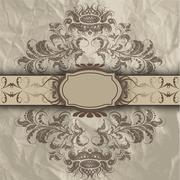 Pattern with banners Stock Illustration