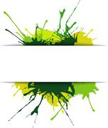 beautiful spots and splashes of green shades - stock illustration