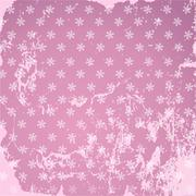 Pink color with scuffed and stained floral pattern Stock Illustration
