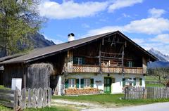 Old farm house in Tyrol - stock photo