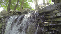 Artificial waterfall in Gorky Park Stock Footage