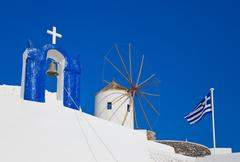 Santorini symbols, Greece - stock photo