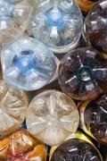 Plastic bottles  background Stock Photos