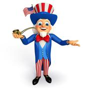 Stock Illustration of Uncle sam with smoking pipe