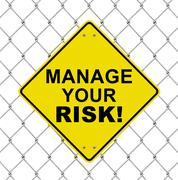 manage your risk - stock illustration